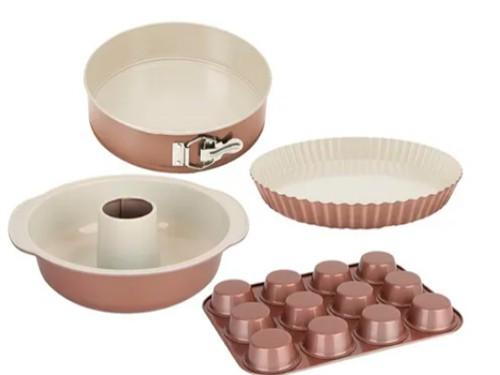 Set De Moldes Hudson Ceramica Flan Budin Savarin Cupcakes