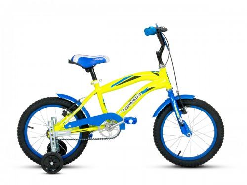 Bicicleta Topmega Crossboy R16 - Amarillo Azul