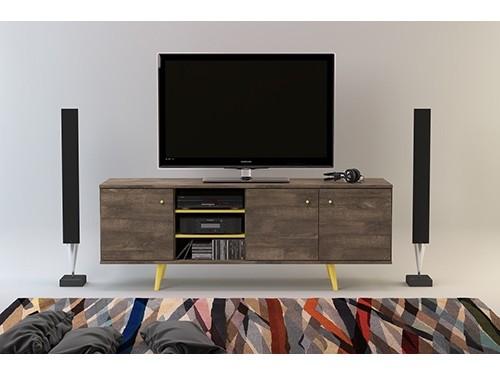 Rack para TV Moderno 1.80mts Tono Roble Ottilia
