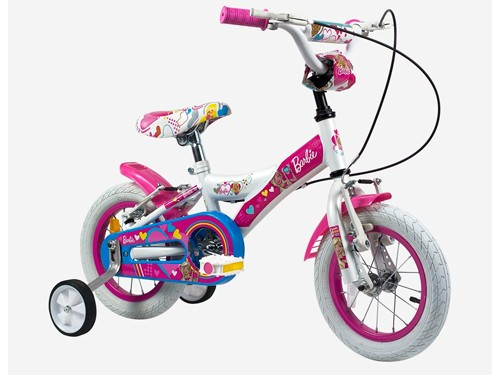 Bicicleta Rodado 12 Nena Barbie Con Rueditas