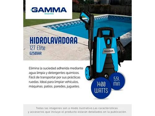 Hidrolavadora Gamma 1400w 100bar 127 Autostop Gtía 2 Años