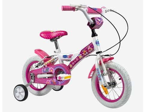 Bicicleta Rodado 12 Nena Peppa Pig Con Rueditas