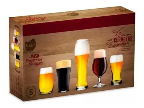 Vasos Cerveceros Kit Cerveza Nadir Pinta Vidrio Copon Caja