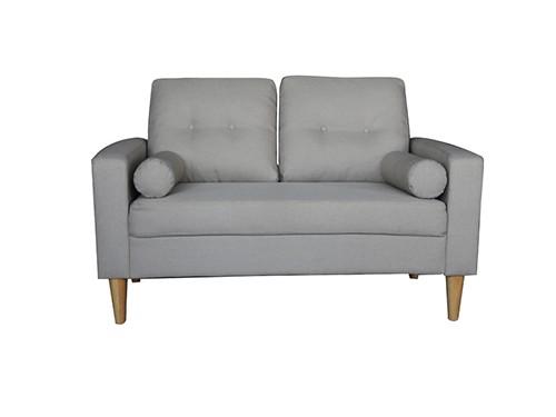 Sillon Sofa Moderno de 2 Cuerpos Gris Claro Ibra