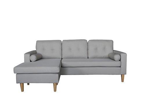Sillon Sofa Esquinero Moderno 3 Cuerpos Gris Claro Ibra