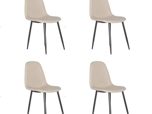 Set de 4 Sillas de Comedor Eames Velvet Marron
