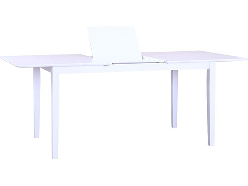 Mesa de Comedor Madera Blanca 1.50 Extensible Lydia
