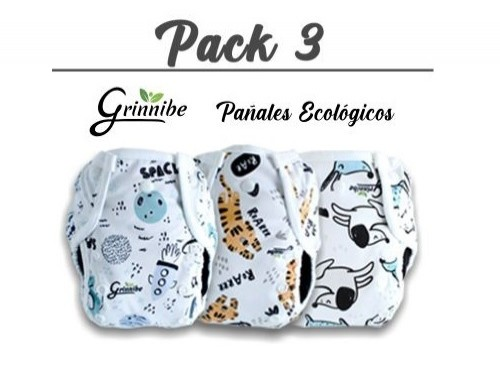 Pack 3 Pañales Ecológicos Grinnibe