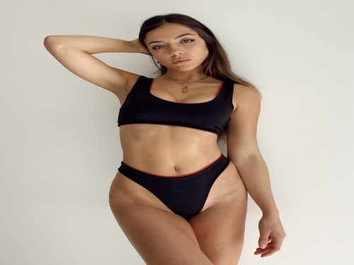 CABO | Bikini reversible rojo & negro | Lyla + Jay