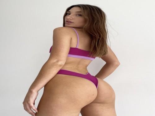 CABO | Bikini reversible morado & lilac | Luna + Zoe