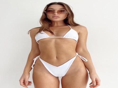CABO | Bikini reversible nude & blanco |Fox & Lexie