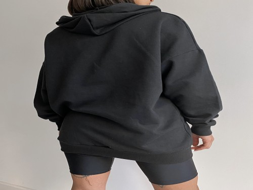 CABO Active | Buzo oversize negro| Buzo Fox