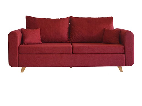 Sillon Sofa Moderno Personalizable De 3 Cuerpos Vito Carmin