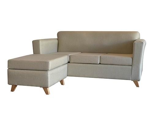 Sillon Sofa Esquinero Escandinavo De 3 Cuerpos Amy Gris