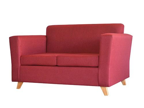 Sillon Sofa Escandinavo Personalizable De 2 Cuerpos Amy Rojo