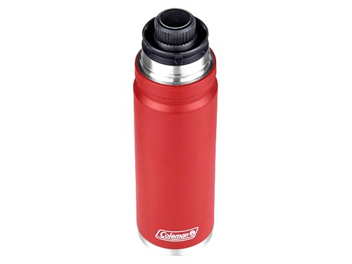 Termo Coleman acero acero inoxidable 1200 ml color rojo pico 360°