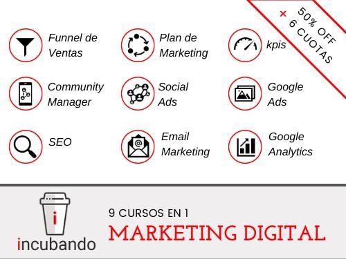 PACK 2 CURSOS: Marketing Digital + Ecommerce ⭐️50% OFF + 6 cuotas⭐️