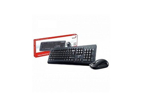 Kit Teclado Y Mouse Genius Km-160 Usb Con Cable Español