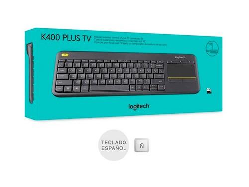 Teclado Logitech K400 Plus Smart Tv Pc Touch Español Ñ