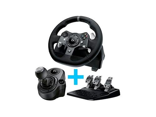 Volante Logitech G920 + Pedalera + Palanca Xbox Pc