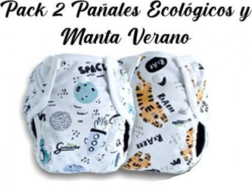 Pack 2 Pañales Ecológicos + Manta Verano