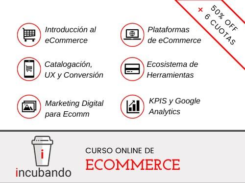PACK 2 CURSOS: Ecommerce + Redes Sociales ⭐️50% OFF + 6 cuotas s/i ⭐️