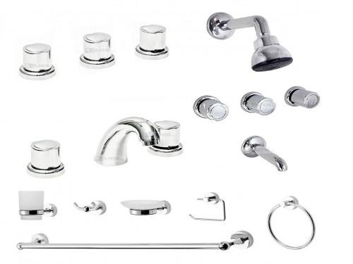Griferia Baño Completa Set Accesorios Aqualaf 7000