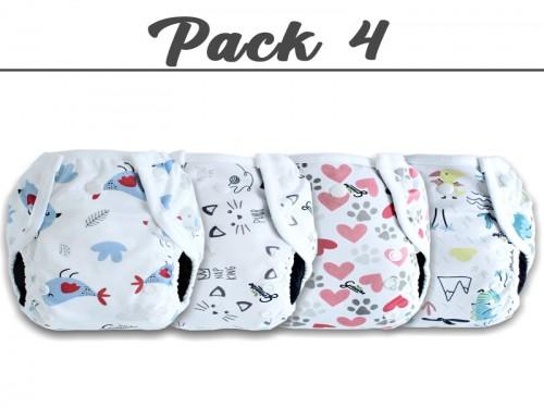 Pack 4 Pañales Ecológicos + 1 Par de Protectores Mamarios