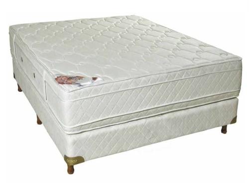 Sommier y Colchon Deseo Diamante Blanco Espuma – 2 Plazas 190 x 140