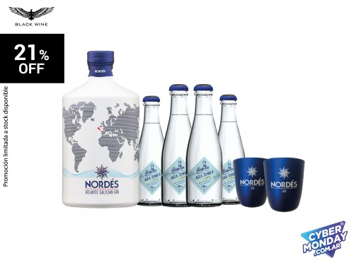Pack Nordés 700 ml. + 2 Vasos Nordés Smart Blue + 4 Hinks & Sons Regul