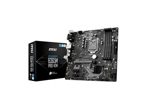 Motherboard Msi B365m Pro-vdh 1151 Pcie 3.0 M.2 Intel 8va 9n