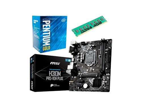Combo Actualizacion Pentium Gold G5400 Mother H310 4gb Ddr4