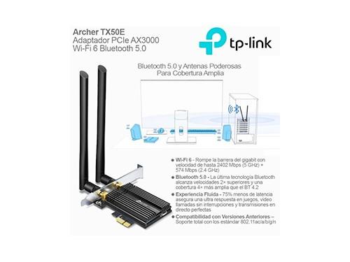 Adaptador De Red Pcie Tp-link Tx50e Wi-fi 6 Bluetooth 5.0
