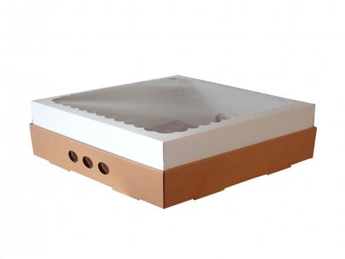 Caja Para Desayuno O Torta 30x30x12 Con Visor X10u