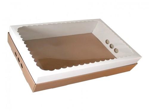 Caja Para Desayuno O Torta 43x32x12 Con Visor X10u