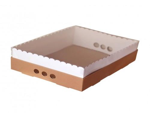 Caja Para Desayuno O Torta 43x32x12 Tapa Transparente X10