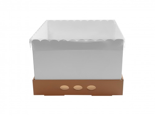 Caja Para Tortas Altas 25x25x25 Tapa Transparente X25