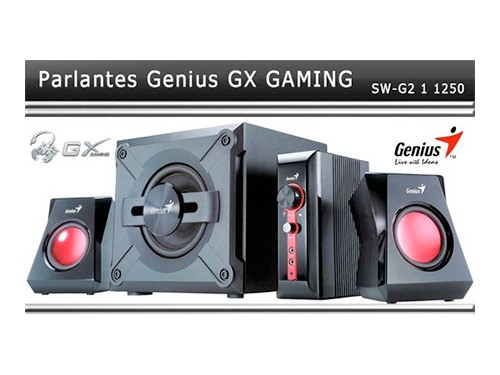 Parlantes Genius Gamer Gx Sw-g2.1 1250 38w Consolas Pc Tv