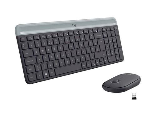 Combo Teclado Y Mouse Inalámbrico Logitech Mk470 Usb Slim