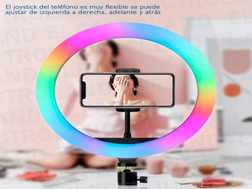 Aro Anillo Selfie Led 26 Cm Luz Rgb Ring Light Tripode Control