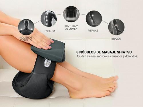Masajeador Cervical y Lumbar Shiatsu Terapia de Calor Gandic Ombu