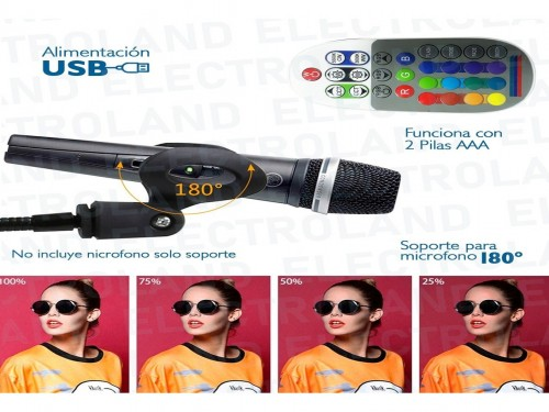 Aro Anillo Selfie Led 16cm Rgb Ring Light Soporte Microfono