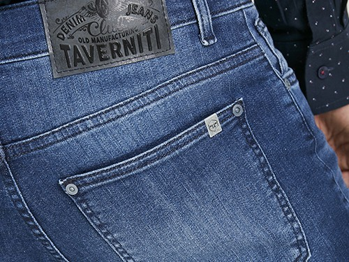 Jean tiro bajo chupín Taverniti