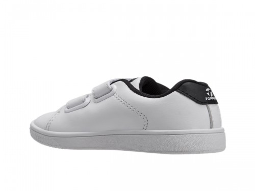 Zapatillas Topper Bebe Velcro Cuero Color Blanco