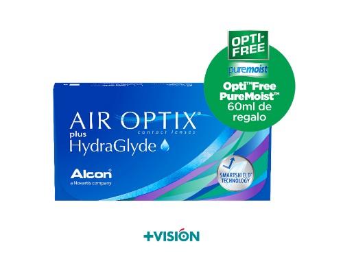 Lentes de contacto Air Optix Plus Hydraglyde + liquido de regalo