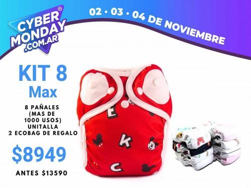 KIT Max 8 Pañales unitalla - Diseño a elección