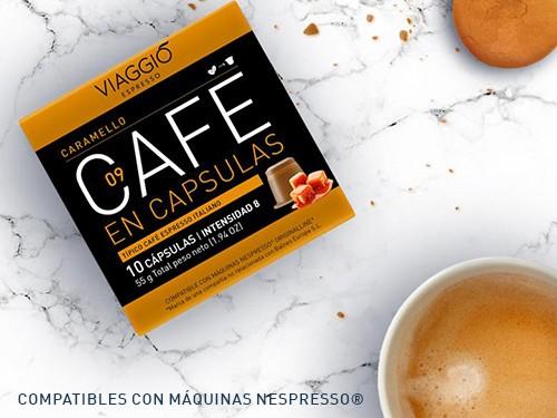 Cápsulas de café aromatizado Caramello pack x 10 Viaggio Espresso