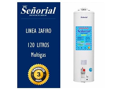 TERMOTANQUE SEÑORIAL 120 LTS MULTIGAS LINEA ZAFIRO