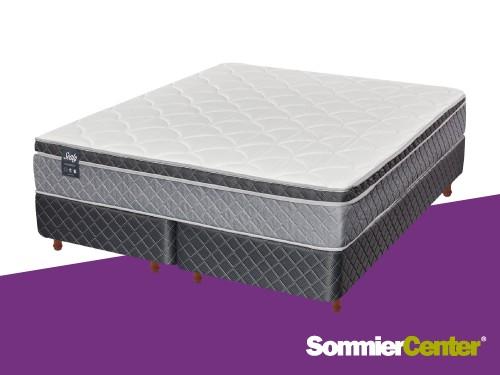 Sommier y colchón Pocket 2 1/2plazas 160x200 Jackard Europillow Sealy